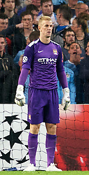02.10.2013, Etihad Stadion, Manchester, ENG, UEFA Champions League, Manchester City vs FC Bayern Muenchen, Gruppe D, im Bild Manchester City's goalkeeper Joe Hart looks dejected after Bayern Munich scores the second goal in the UEFA Champions League Group D match between Manchester City vs FC Bayern Munich at the Etihad Stadium, Manchester, Great Britain on 2013/10/02. EXPA Pictures &copy; 2013, PhotoCredit: EXPA/ Propagandaphoto/ David Rawcliffe<br /> <br /> ***** ATTENTION - OUT OF ENG, GBR, UK *****