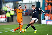 Dundee midfielder Scott?Allan (#10) challenges Dundee United defender Lewis Toshney (#6) during the Betfred Scottish Cup group stage match between Dundee and Dundee United at Dens Park, Dundee, Scotland on 29 July 2017. Photo by Craig Doyle.