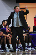 November 28, 2011; Moraga, CA, USA; San Francisco State Gators head coach Paul Trevor instructs during the first half of the Shamrock Office Solutions Classic consolation game against the Jacksonville State Gamecocks at McKeon Pavilion. The Gators defeated the Gamecocks 71-68.