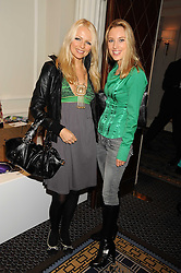 Left to right, HANNAH SANDLING and IMOGEN LLOYD WEBBER at the In Style Handbag Auction is association with Revlon raising money for the Rainbow Trust children's charity held at the Berkeley Hotel, Knightsbridge, London on 4th November 2008.