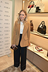 Jessie Bush at a party to celebrate the launch of the new Furla Flagship store, 71 Brompton Road, London England. 2 February 2017.
