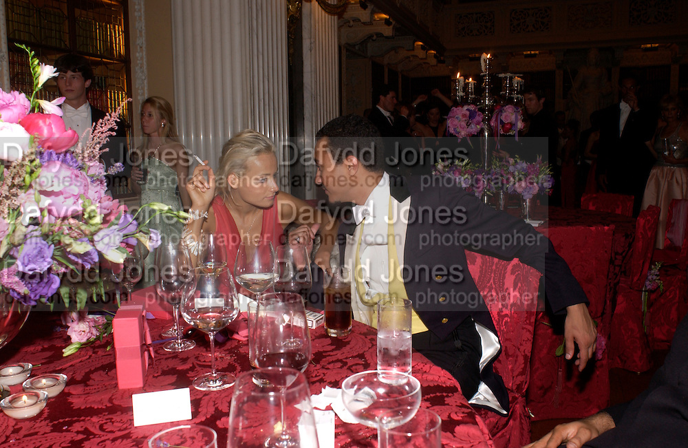 Kalita Al-Swadi and Prince Khalid bin BandarBall at Blenheim Palace in aid of the Red Cross, Woodstock, 26 June 2004. SUPPLIED FOR ONE-TIME USE ONLY-DO NOT ARCHIVE. © Copyright Photograph by Dafydd Jones 66 Stockwell Park Rd. London SW9 0DA Tel 020 7733 0108 www.dafjones.com