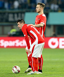 31.03.2015, Ernst Happel Stadion, Wien, AUT, Freundschaftsspiel, Oesterreich vs Bosnien Herzegowina, im Bild Zlatko Junizovic (AUT) und Marko Arnautovic (AUT) // during the friendly match between Austria and Bosnia and Herzegovina at the Ernst Happel Stadion, Vienna, Austria on 2015/03/31. EXPA Pictures © 2015, PhotoCredit: EXPA/ Alexander Forst