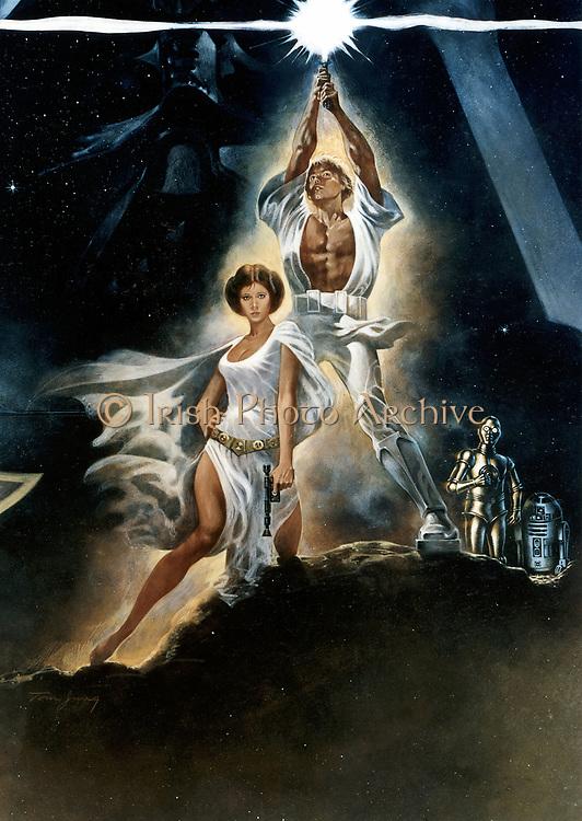 Poster for 'Star Wars', 1977, 20th Century Fox film. (detail).