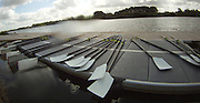 Caversham Reading. Oars blades resting on the boating dock. GBR  Rowing 2011 World Cup team announcement,  Redgrave and Pinsent Lake. Tuesday  03/03/2009  [Mandatory Credit; Peter Spurrier/Intersport-images]  GoPro  YHDC5170