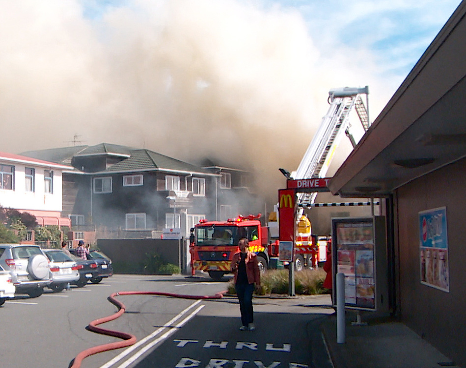 Fire crews were call to a fire which extensively damaged a two storey house in Millward Street Newtown, Wellington, New Zealand, Friday, September 13, 2013. Credit:SNPA / Sam James **BEST AVAILABLE QUALITY**VIDEO GRAB**