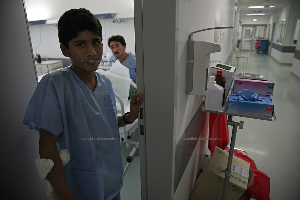 Afghan patients at the german field hospital inside miltary ISAF Camp Marmal in Mazar-e Sharif