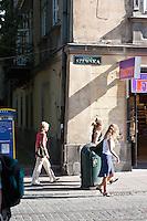 Ulica Szewska in Krakow Poland