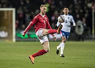 FOOTBALL: Nicolai Jørgensen (Denmark) controls the ball during the friendly match between Denmark and Panama at Brøndby Stadium on March 22, 2018 in Brøndby, Copenhagen, Denmark. Photo by: Claus Birch / ClausBirch.dk.