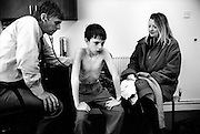 Patient visting a GP in his surgery. Liverpool, 1999. England, United Kingdom
