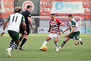 Hamilton Academical midfielder Tom Taiwo (12) plays a pass during the Ladbrokes Scottish Premiership match between Hamilton Academical FC and Celtic at New Douglas Park, Hamilton, Scotland on 24 November 2018. Pic Mick Atkins