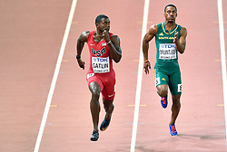 22-08-2015 CHN: IAAF World Championships Athletics day 1, Beijing<br /> Justin Gatlin USA, Henricho Bruintjes RSA<br /> Photo by Ronald Hoogendoorn / Sportida
