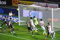 BUT DE Corentin TOLISSO  - 04.12.2014 - Lyon / Reims - 16eme journee de Ligue 1  <br /> Photo : Jean Paul Thomas / Icon Sport