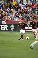 July 24th, 2012:  Colorado Rapids forward Kamani Hill (13) on the attack in the Rapids 2-1 win over Swansea City AFC in a international friendly soccer match in Denver, CO.