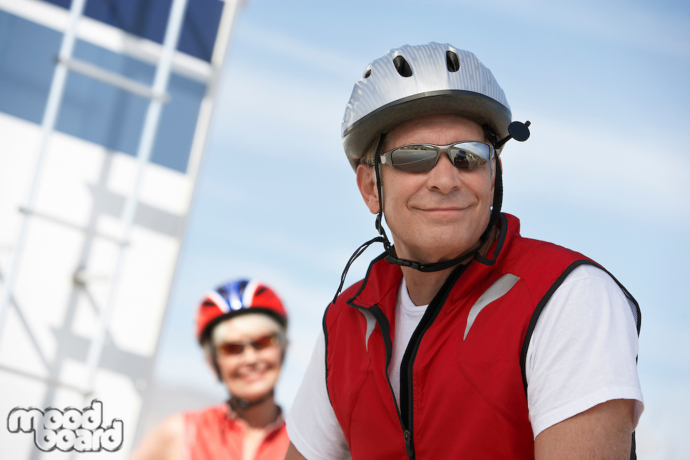 Couple Preparing for a Bicycle Ride