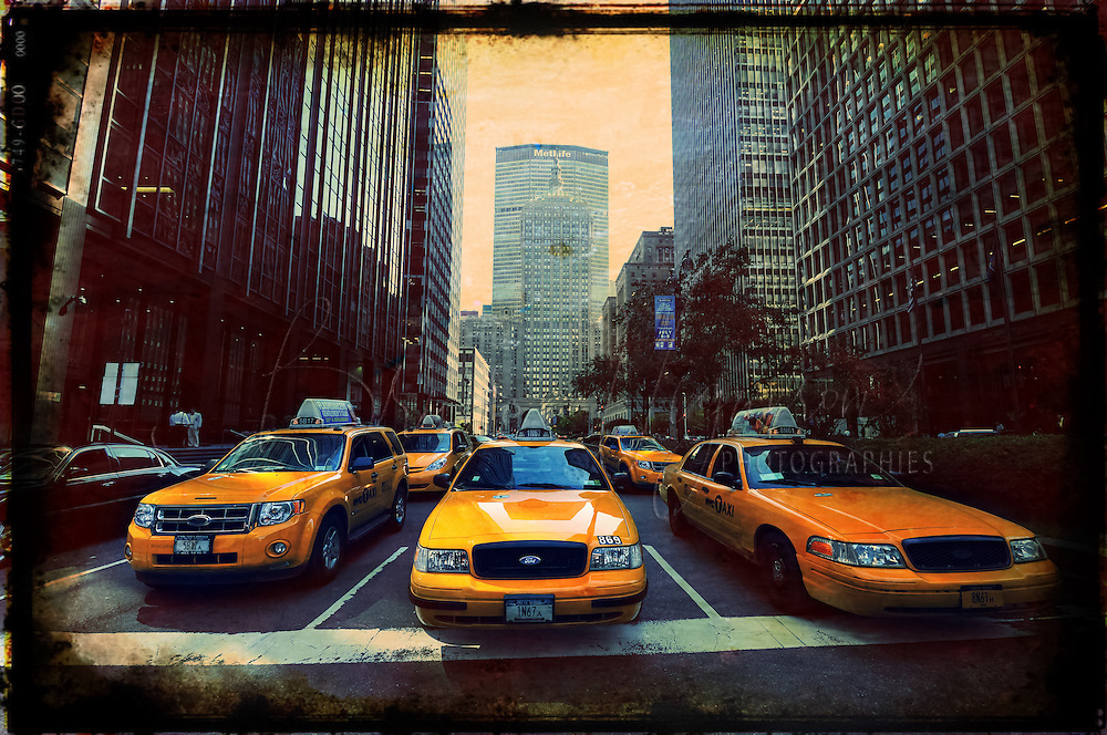 Cabs in New-York City.
