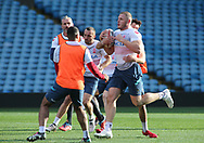 Tom Burgess (R) during the England Rugby League captain's run ahead of the 3rd Autumn International Series Match at Elland Road, Leeds<br /> Picture by Stephen Gaunt/Focus Images Ltd +447904 833202<br /> 10/11/2018