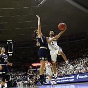 Moriah Jefferson, UConn, drives to the basket past Marina Mabrey, Notre Dame, during the Notre Dame Vs UConn Women's Basketball game at Grampel Pavilion, Storrs, Connecticut, USA. 5th December 2015. Photo Tim Clayton