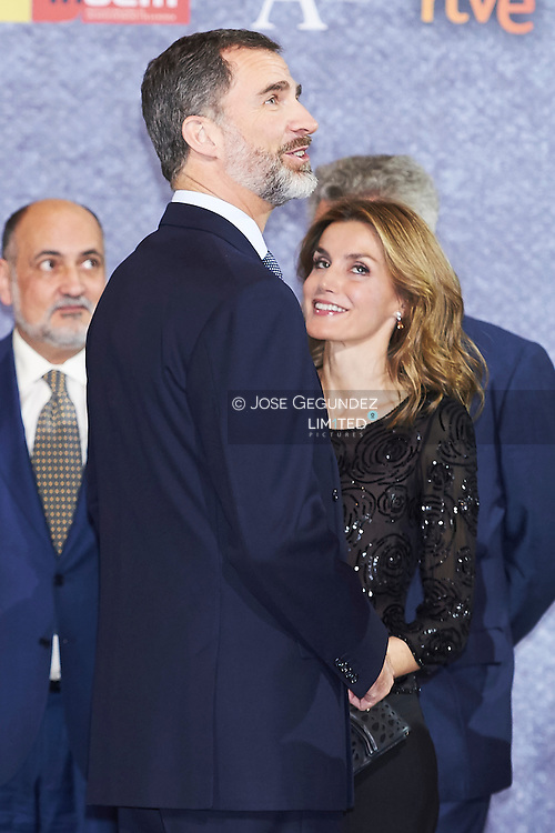 King Felipe of Spain and Queen Letizia of Spain attended the Tribute Concert For Terrorism Victims at the National Auditorium on March 12, 2015 in Madrid