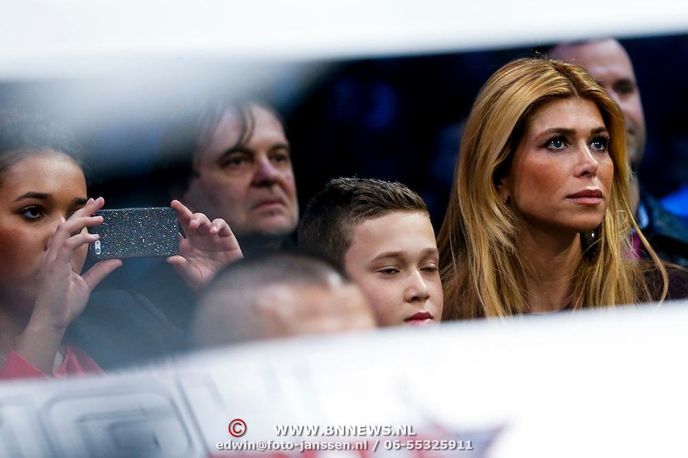 CRO/Zagreb/20130315- K1 WGP Finale Zagreb, estelle Cruijff, zoon Joelle en dochter Maxim Gullit