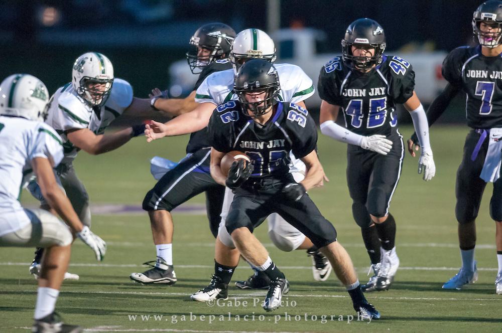 John Jay Varsity Football game vs. Brewsters on September 21, 2013.(photo by Gabe Palacio)
