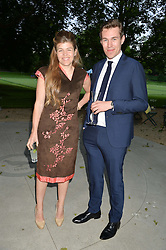 AMBER NUTTALL and WILLIAM CANTOR at a dinner hosted by Cartier in celebration of The Chelsea Flower Show held at The Hurlingham Club, London on 19th May 2014.