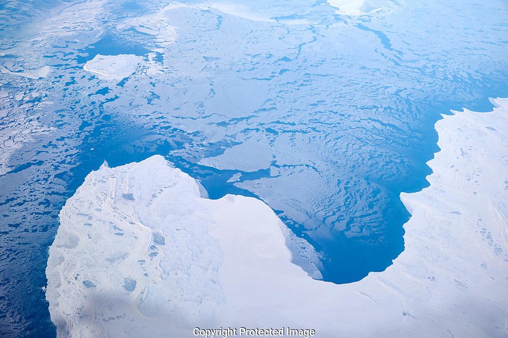 Flight over the Arctic Ocean Wednesday, Nov. 1, 2017. (Photo/John Froschauer)