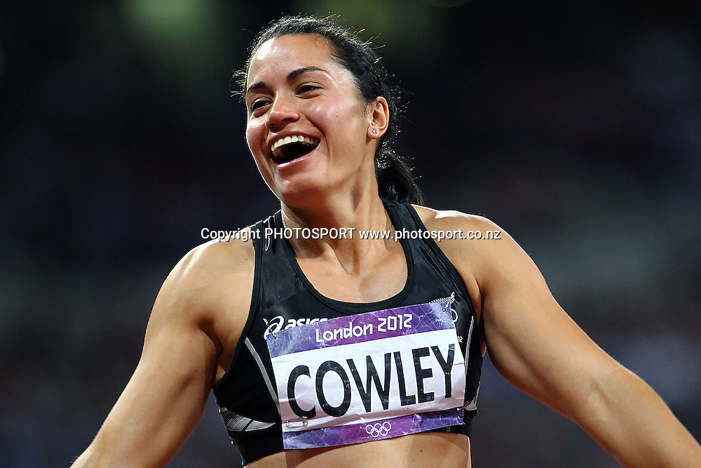 New Zealand's Sarah Cowley. Athletics, Women's Heptathlon at Olympic Stadium, London, United Kingdom. Saturday 4th August 2012. Photo: Anthony Au-Yeung / photosport.co.nz