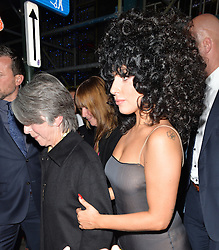 Lady Gaga leaving the L'Archiduc Jazz bar in Brussels, Belguim. 22/09/2014<br /> BYLINE MUST READ : GOTCHAIMAGES.COM<br /> <br /> Copyright by © Gotcha Images Ltd. All rights reserved.<br /> Usage of this image is conditional upon the acceptance <br /> of Gotcha Images Ltd, terms and conditions available at<br /> www.gotchaimages.com