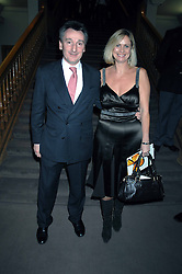 ANDREW DAVIS Chairman of von Essen Hotels and DEBBIE FLYNN at the Lighthouse Gala Auction in aid of the Terence Higgins Trust held at Christie's, St.James's, London on 12th March 2007.<br />