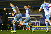 Matthew Godden of Coventry City (24) just misses the goal with a header during the EFL Sky Bet League 1 match between Coventry City and Rotherham United at the Trillion Trophy Stadium, Birmingham, England on 25 February 2020.