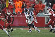 Ole Miss Rebels quarterback Bo Wallace (14) vs. Arkansas at Donald W. Reynolds Razorback Stadium in Fayetteville, Ark. on Saturday, November 22, 2014.