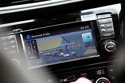 UK ENGLAND COVENTRY 17MAR15 - Target locations on the car's satellite navigation system during mystery shopping for illegal and untaxed cigarettes in Coventry, England.<br /> <br /> <br /> jre/Photo by Jiri Rezac<br /> <br /> © Jiri Rezac 2015