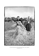 The Ryan ladies helping out with the harvest at Thurles, County Tipperary.<br />