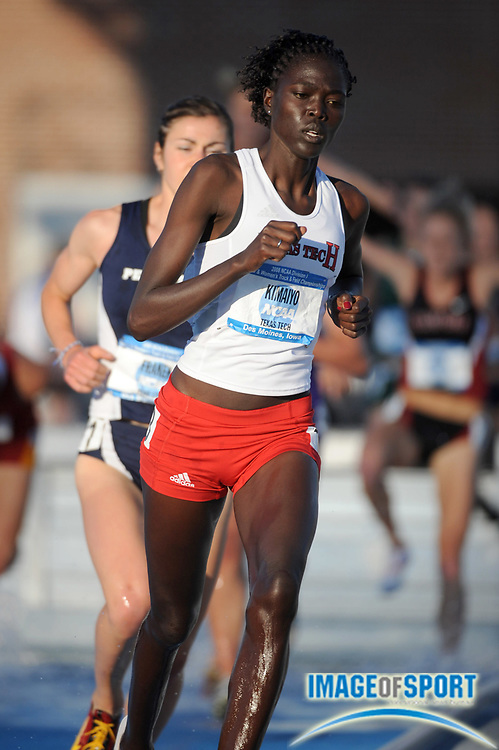 Jun 13, 2008; Des Moines, IA; Irene Kimaiyo of Texas Tech was fifth in the women's steeplechase in 10:05.29 in the NCAA Track & Field Championships at Drake Stadium.
