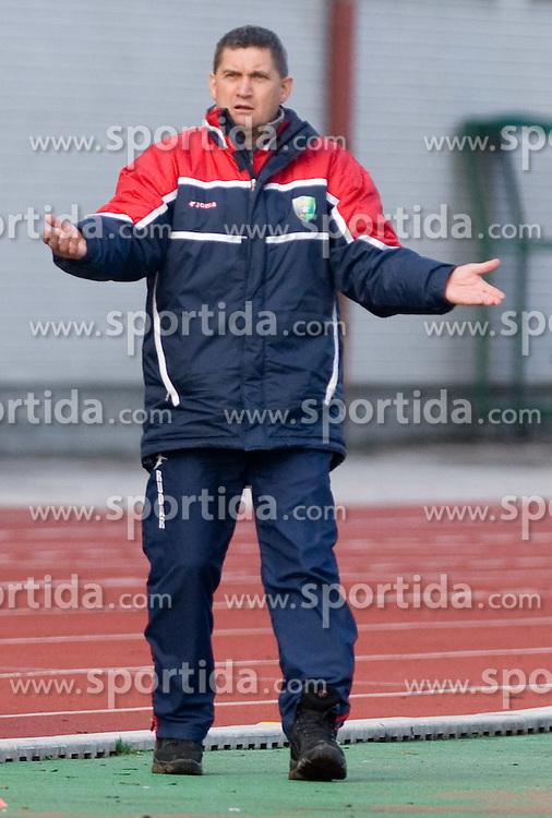 Head coach of Rudar Marijan Pusnik at  football match of 21st Round of First League between NK Olimpija and NK Rudar Velenje, on December 2, 2009,  in ZSD Ljubljana, Ljubljana, Slovenia.  Rudar defeated Olimpija 1:0. (Photo by Vid Ponikvar / Sportida)
