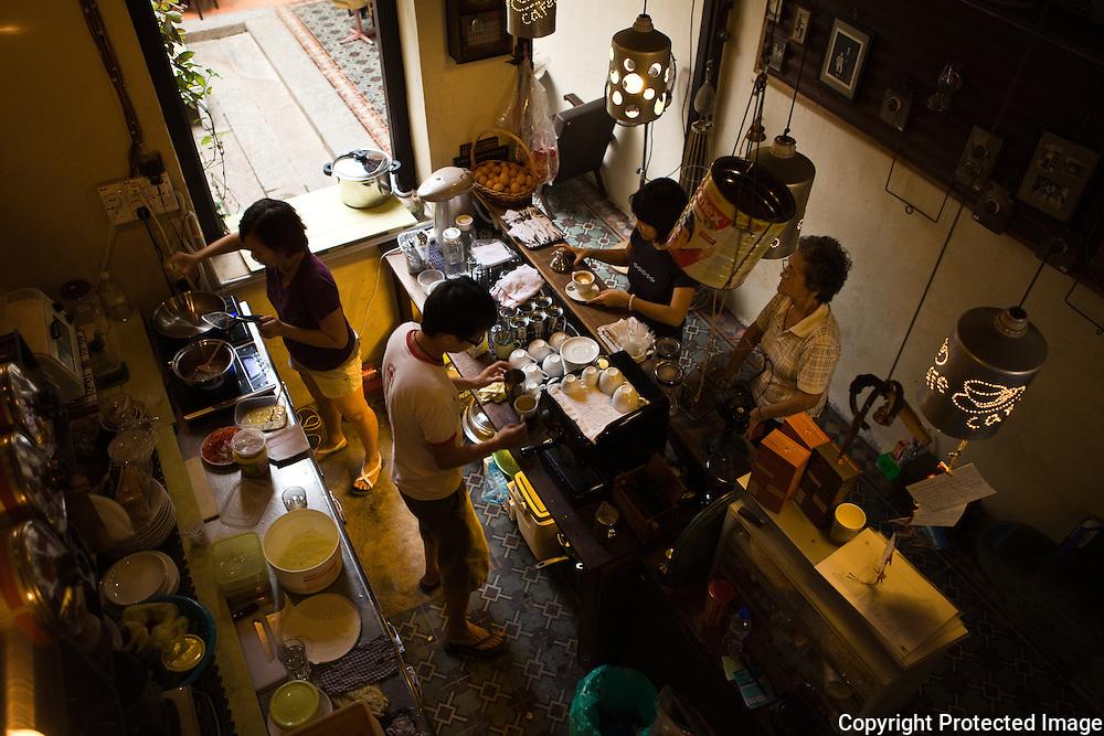galley kitchen at Moon Tree 47