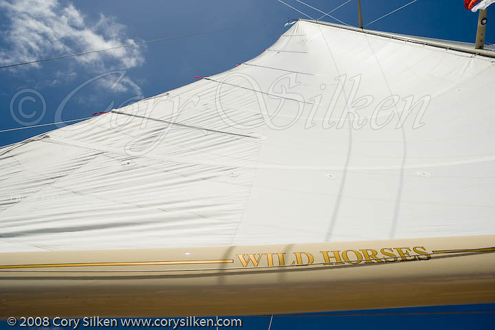 W Class Wild Horses racing at the St. Barth Bucket regatta.
