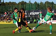 3.9.2017, Tapiolan Urheilupuisto, Espoo.<br /> Ykkönen 2017.<br /> FC Honka - Kokkolan Pallo-Veikot.<br /> Victor Shevchenko & Kim Ågren (KPV) v Borjas Martin (Honka).