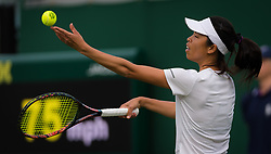 July 1, 2019 - London, GREAT BRITAIN - Su-Wei Hsieh of Chinese Taipeh in action during her first round match at the 2019 Wimbledon Championships Grand Slam Tennis Tournament against Jelena Ostapenko of Latvia (Credit Image: © AFP7 via ZUMA Wire)