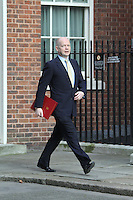 Foreign Secretary William Hague Cabinet Meeting Downing Street arrivals , London, UK, 23 March 2011:  Contact: Rich@Piqtured.com +44(0)7941 079620 (Picture by Richard Goldschmidt)