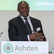 Kandeh Yumkella, CEO of Sustainable Energy for All. The key note speaker at the 2015 Ashden International Conference. The Business of Energy: Enterprising Solutions to the Energy Access Challenge. Kings Cross, London, UK. All image use must be credited. © Andrew Aitchison / Ashden
