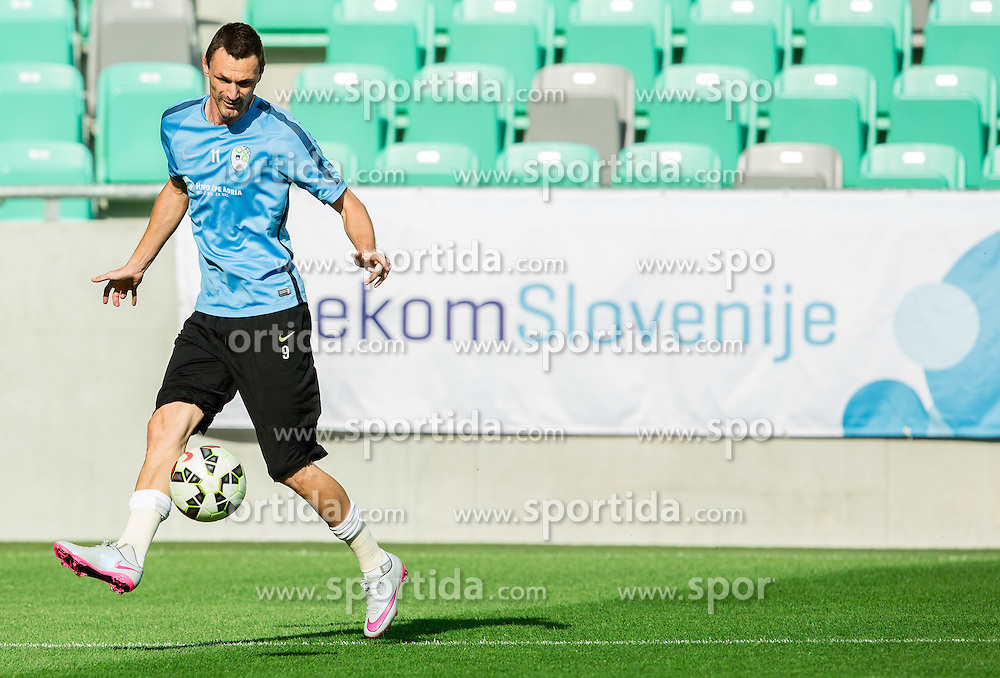 Milivoje Novakovic during practice session of Slovenian National Football Team before Euro 2016 Qualifications match against England, on June 12, 2015 in SRC Stozice, Ljubljana, Slovenia. Photo by Vid Ponikvar / Sportida