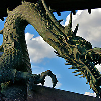 Dragon Sculpture at Higashi Honganji in Kyoto, Japan<br />