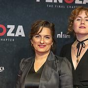 NLD/Amsterdam/20191118 - Filmpremiere Penoza: The Final Chapter, Carly Wijs en Britte Lagcher
