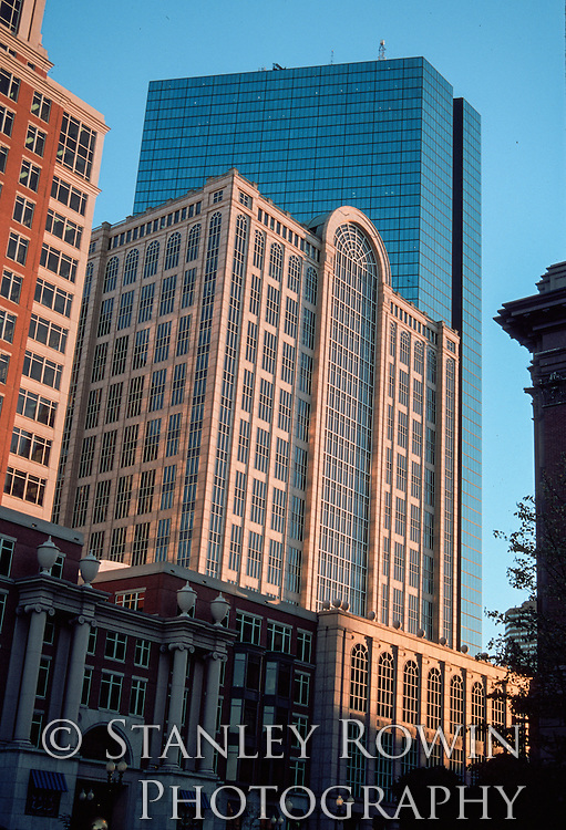 Architectural Detail Photo of 500 Boylston Street and Hancock Building Boston