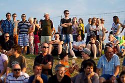 Gleadalci na dobrodelni nogometni tekmi SD Bilje, katere izkupicek  je namenjen Zavodu Lu ter Fundaciji Vrabcek upanja, on June 22, 2012 in Bilje pri Novi Gorici, Slovenia. (Photo by Vid Ponikvar / Sportida.com)
