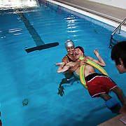 Italy, Biella- XVIII Special Olympics National Games for intellectual disables: assisted swimming © Mama2