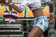 Girl dancing at Parada de Funk