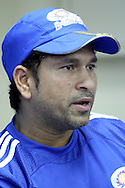Sachin Tendulkar during the Mumbai Indians press conference held at The Wanderers Stadium in Johannesburg on the 6th September 2010 held as part of the build up to the Champions League T20 tournament being held in South Africa between the 10th and 26th September 2010..Photo by: Ron Gaunt/SPORTZPICS/CLT20